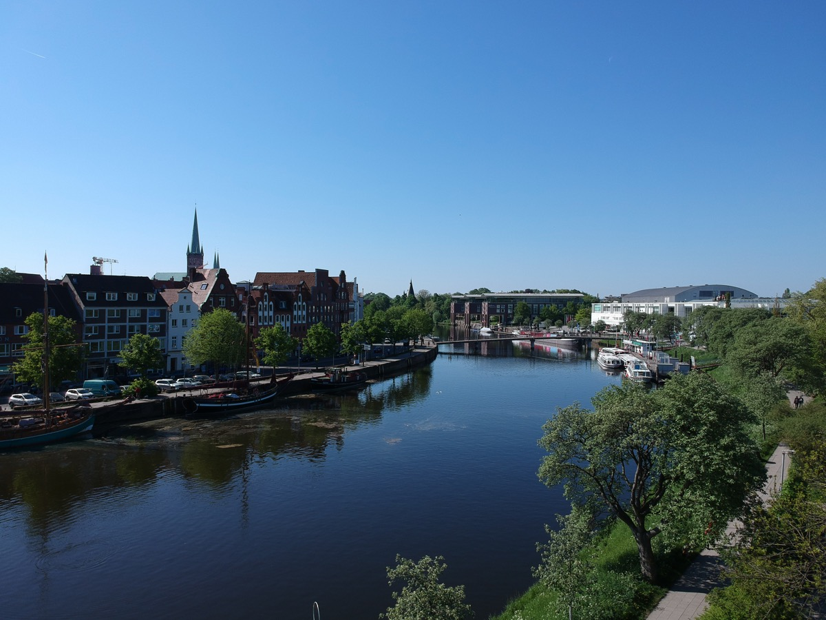 Die Trave in Lübeck