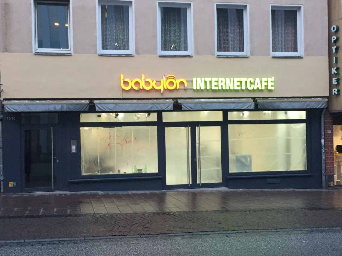 Babylon Internetcafe in der Wahmstraße