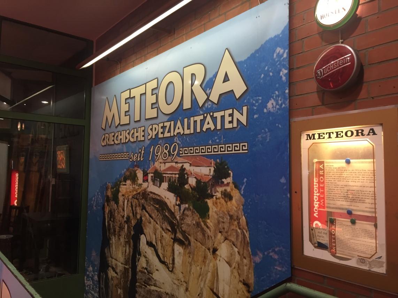 Grieche Meteora hat geschlossen